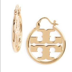 The Iconic Tory Burch Delicate Golden Hoops